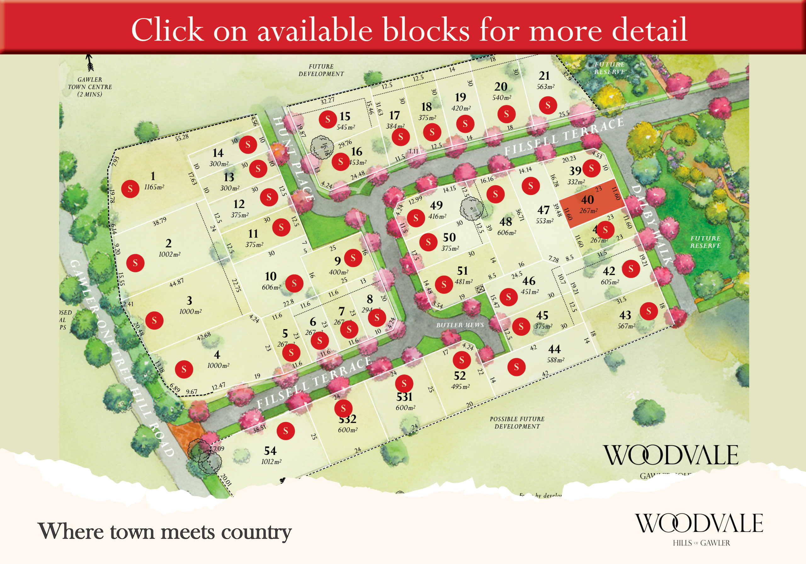 Land for sale at Gawler near Adelaide - Woodvale Stage 1