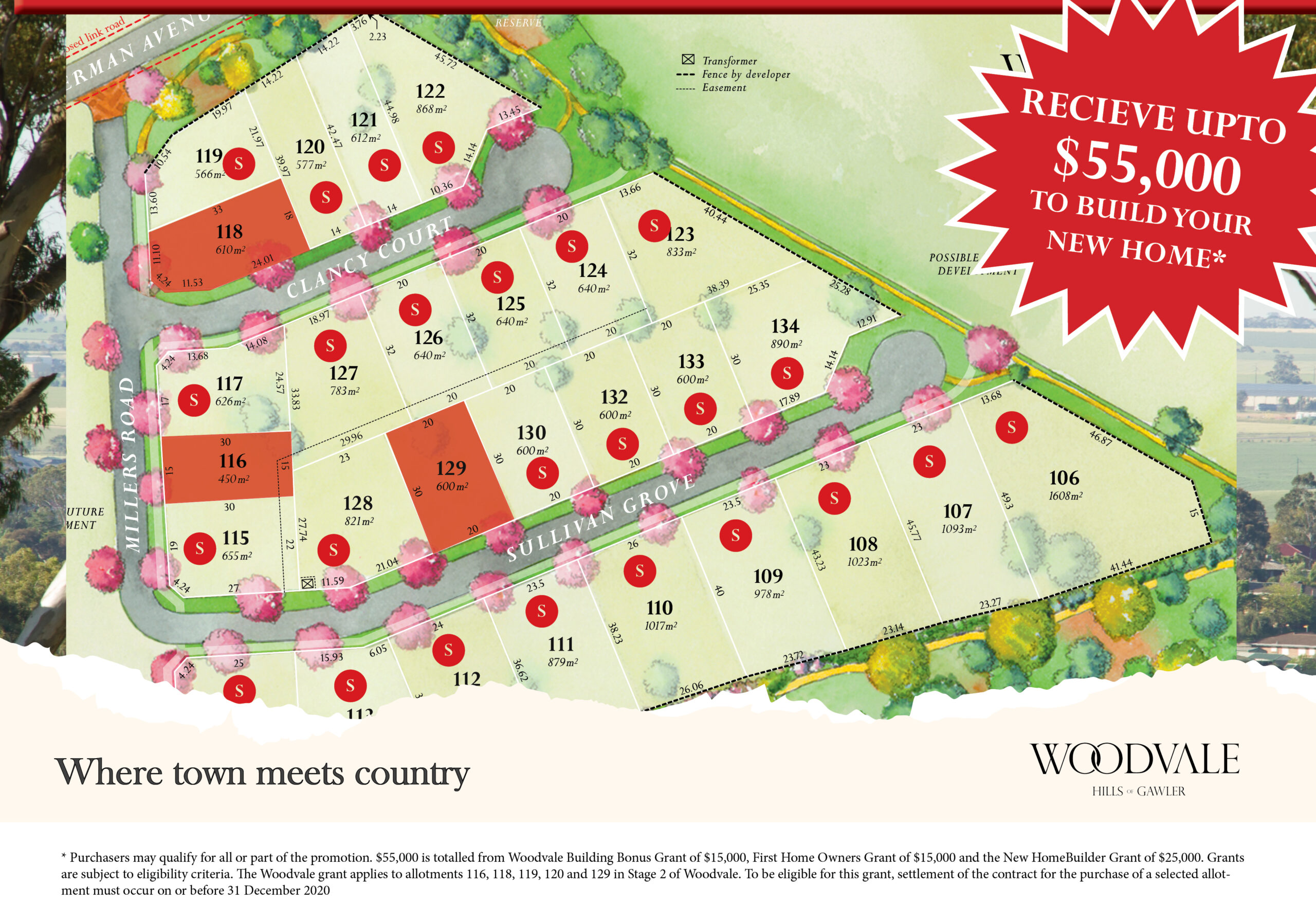 Land for sale at Gawler near Adelaide - Woodvale Stage 2